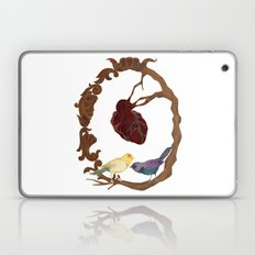 Two birds and a heart Laptop & iPad Skin