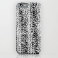 iPhone & iPod Case featuring Stockinette Black by Elisa Sandoval