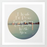 Everything On Earth Art Print
