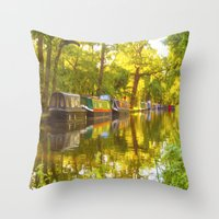 Wey Navigation Canal Throw Pillow