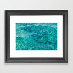 Mediterranean Water Framed Art Print