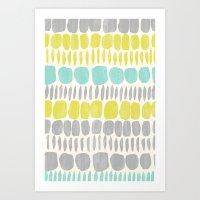 Aqua Blue, Citron Yellow… Art Print