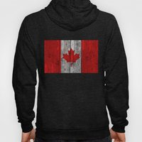 Canada Flag On Heavily T… Hoody