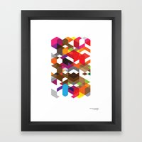 Life Like A Geometry Framed Art Print