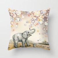Bubble Dreams Throw Pillow