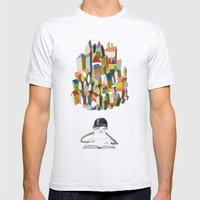 Read A City Mens Fitted Tee Ash Grey SMALL