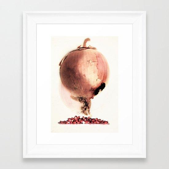 Onion story Framed Art Print