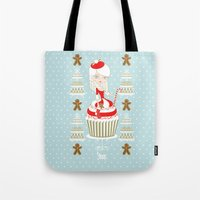 Merry Lady Christmas Cup… Tote Bag