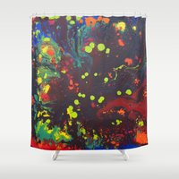 Abstract drops. Shower Curtain