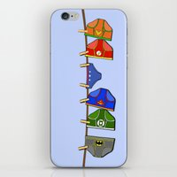 Laundry Day at the Hall of Justice iPhone & iPod Skin