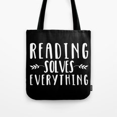 Reading Solves Everything (inverted) Tote Bag