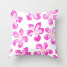 Posey Power - Fuxia Multi Throw Pillow