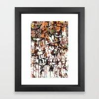 Splatter Birds Framed Art Print