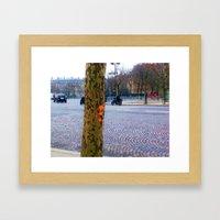 I Left My Heart In Paris Framed Art Print