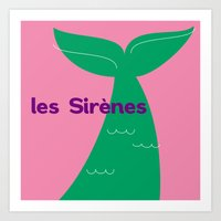 Les Sirènes Art Print