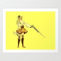 Mami - Yellow Art Print