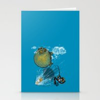 Pufferfish Baloon Stationery Cards