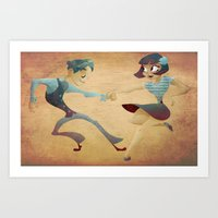 Swing Dance 2 Art Print