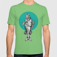 Fishes Mens Fitted Tee Grass SMALL