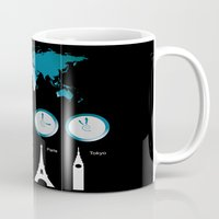 TIME ZONES. NEW YORK, LO… Mug
