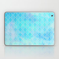 Liquid blue Moroccan print Laptop & iPad Skin