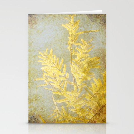 Golden Wattle Stationery Card