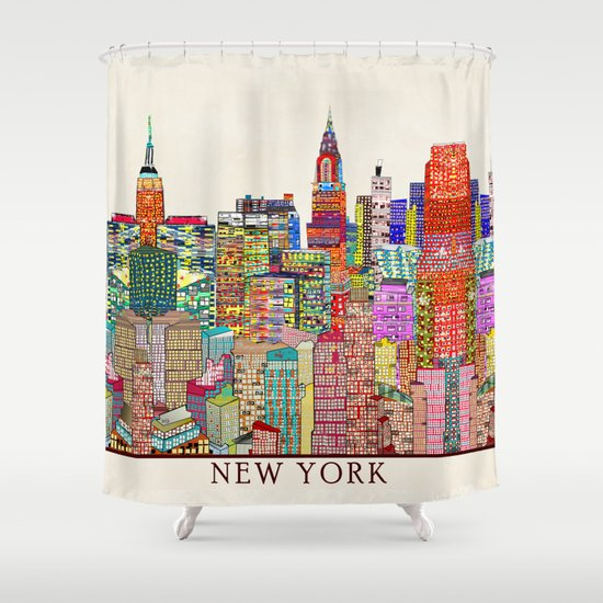 New York City Skyline Shower Curtain By Bribuckley