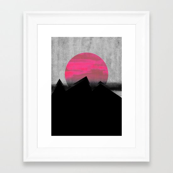 Pink Sun Framed Art Print