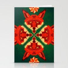 Fox Cross Geometric Patt… Stationery Cards