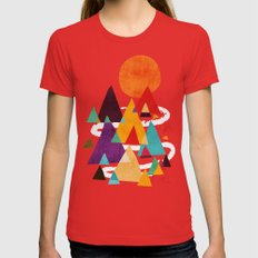 Let's Visit The Mountain… Womens Fitted Tee Red SMALL