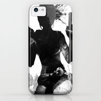 iPhone 5c Cases featuring Lara Croft by Ryan Swannick