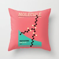 MOLECULE Throw Pillow