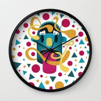 In Your Face Wall Clock