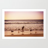 Cross The Ocean Art Print
