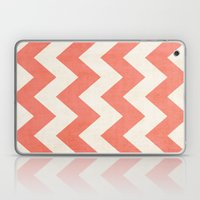 Vintage Coral Chevron Laptop & iPad Skin