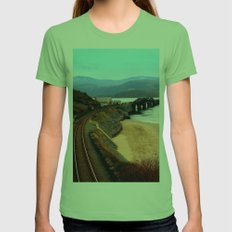Barmouth Mid Wales Womens Fitted Tee Grass SMALL