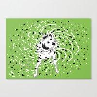 it was a dalmatian Canvas Print