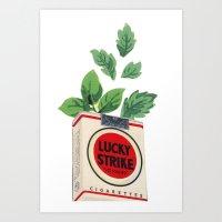 Lucky Leaves Art Print