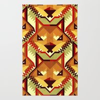 The Bold Wolf Pattern Rug