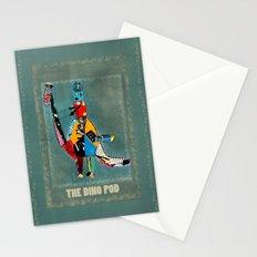 the dino pod  Stationery Cards