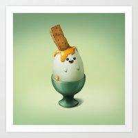 Art Snacks: The Categg Art Print