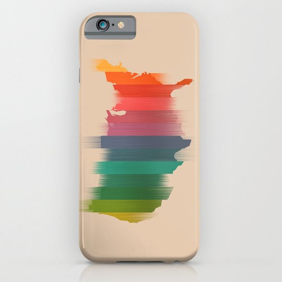 USA map - the colorful stripes iPhone & iPod Case
