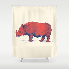 Red Rhino Shower Curtain