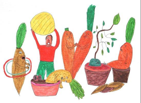 Vegetables Party. Canvas Print