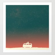 Art Print featuring Quiet Night - Starry Sky by Budi Kwan