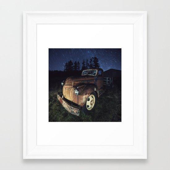Spinning Overhead Framed Art Print
