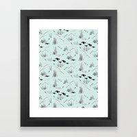 Ocean Pattern Framed Art Print