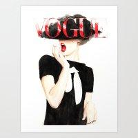 Vogue Magazine Cover. Frida Gustavsson. Fashion Illustration. Art Print