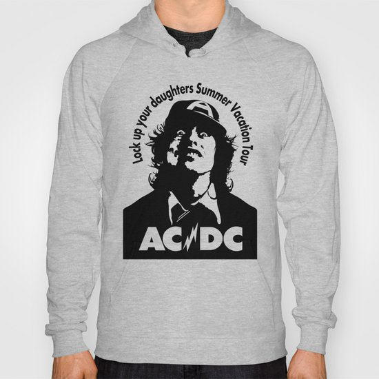 ac dc angus young hoody by aceofspades81 society6. Black Bedroom Furniture Sets. Home Design Ideas