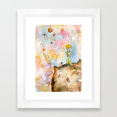 The little prince on the planet Framed Art Print